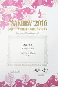 Premio vino Capellana blanco Sakura 2016