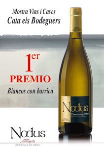 Primer premio de Cata Els Bodeguers al Nodus Chardonnay