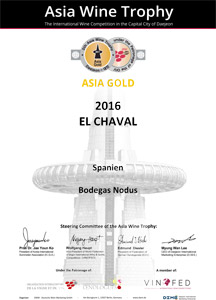 Diploma Medalla Oro - Asia Wine Trophy 2017