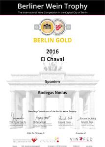 Diploma Medalla Oro - Berliner Wein Trophy 2017