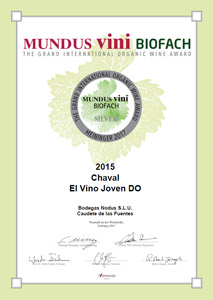 Medalla de plata en Mundus Vini Biofach 2017