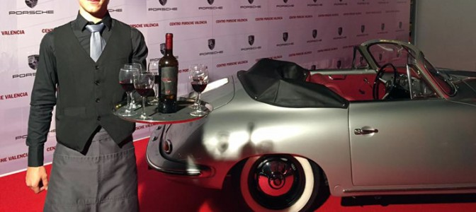 Vinos Nodus en la inauguración centro Porsche Valencia