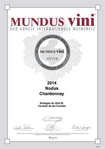 Medalla de plata en Mundus Vini 2015 al Nodus Chardonnay 2014