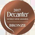 Bronze medal - Decanter World Wine Awards 2017