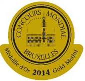 Medalla de oro en Concurso Mundial de Bruselas 2014