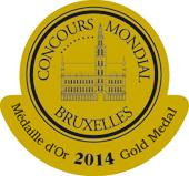 Medalla de oro - Concurso Mundial de Bruselas 2014