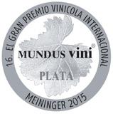 Medalla de Plata en Mundus Vini 2015