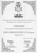 Primer premio Cata Els Bodeguers al Nodus Chardonnay