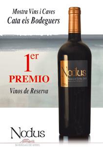 Primer premio al Nodus Reserva de Familia en Cata Els Bodeguers