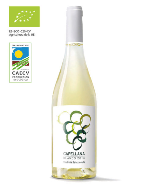 Vino blanco marca Capellana