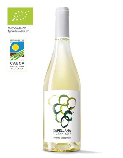 Vino blanco marca Capellana