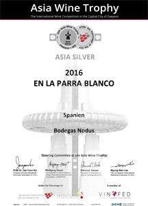 Medalla de Plata - Asia Wine Trophy 2017