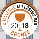 Medalla de Bronce Millesime Bio 2018