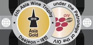Medalla Oro Asia Wine Trophy 2018