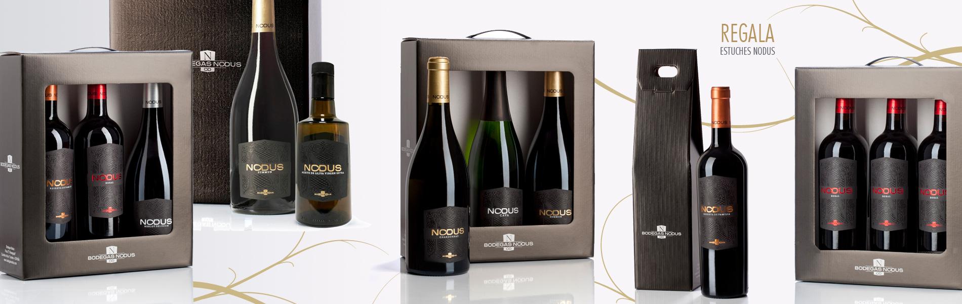 Estuches de vinos de Bodegas Nodus