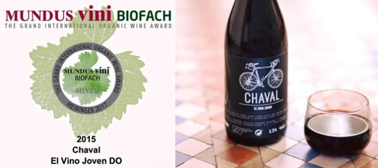Medalla de plata para el vino Chaval 2015